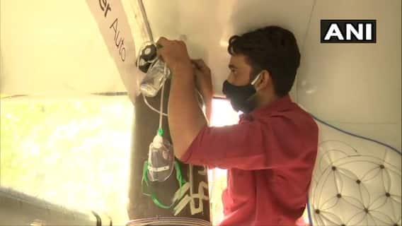 Bhopal auto to ambulance   ஆட்டோவை ஆம்புலன்ஸாக மாற்றிய ஓட்டுநர் - வைரலாகும் புகைப்படங்கள்!