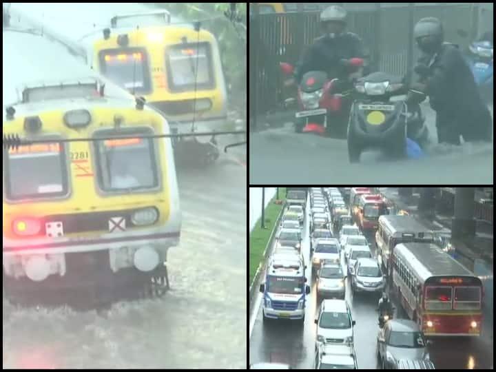 IN PICS   Waterlogged Roads; Railway Tracks Submerged As Monsoon Advances Over Maharashtra