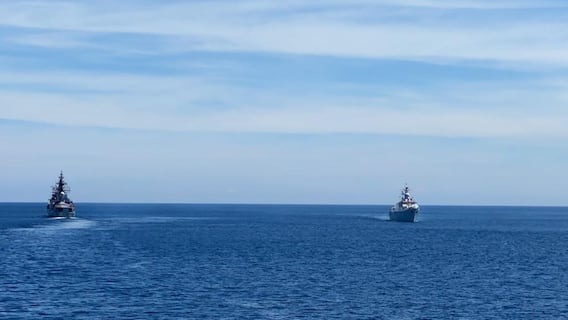 Maritime Exercise: దక్షిణ చైనా సముద్రంలో INS రణవిజయ్ అద్భుత విన్యాసాలు