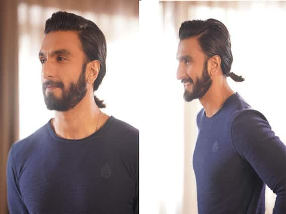 Ranveer Singh new look, actor changed his hairstyle shared a picture in a pony tail on instagram