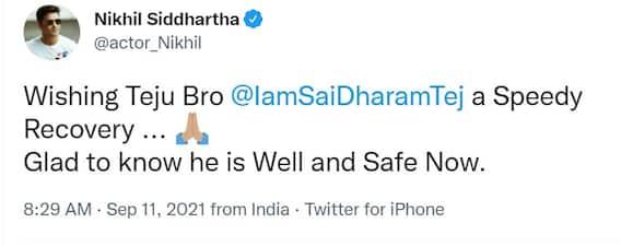 Sai Dharam Tej Accident: తేజ్.. నీ చిరునవ్వును మేం మళ్లీ చూడాలి.. టాలీవుడ్ సెలబ్రిటీల స్పందన ఇది