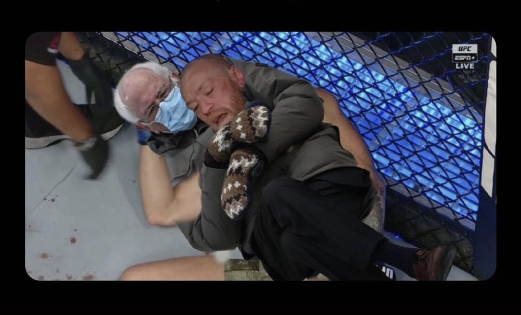 Viral Bernie Sanders Meme Used To Troll Conor Mcgregor After His Loss To Dustin Poirier At Ufc 257